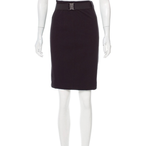 Akris Punto Skirts Akris Black Belted Pencil Skirt With Zipper